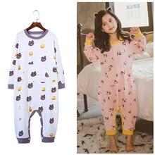 Girls Kids Spring Baby pajamas Soft Siamese Pajamas Cotton Kid Pajama for