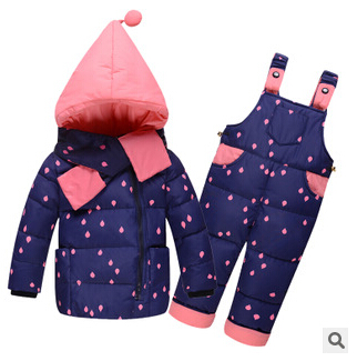 2017 neue Kinder Jungen Mädchen Winter Warme Daunenjacke Anzug Set - Kinderkleidung - Foto 5