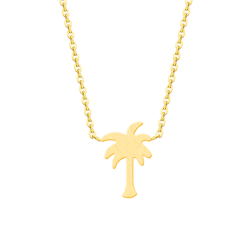 Island Life Palm Tree κολιέ από ανοξείδωτο - Κοσμήματα μόδας - Φωτογραφία 4