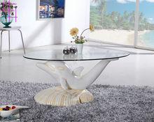 Закаленное стекло, чайный столик. овальный небольшой семьи чайный столик