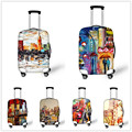 Elastic Luggage Cover Unique Painting Print Travel Accessories for 18-30 inch Travel Case Suitcase Protective Waterproof Covers