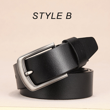 [DWTS]men belt male high quality leather belt men male genuine leather strap luxury pin buckle fancy vintage jeans free shipping 11