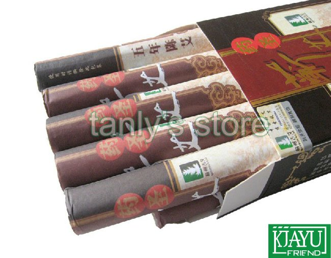Superfine five years old moxa roll Yaosheng Qiai 25:1 roll 10pcs/pack