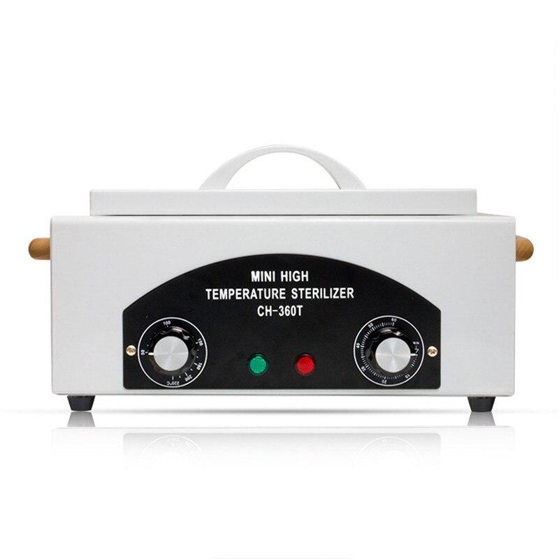 Высокая Температура стерилизатор коробка для ногтей Книги по искусству инструменты горячего воздуха дезинфекции со съемными Нержавеющая...
