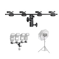 Kaliou Hot Shoe bracket Flash Umbrella Holder Light Stand Bracket For Photo Video Photography photo stand Tripod Four Lightshold