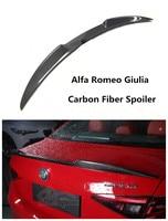 Alerón de fibra de carbono para Alfa Romeo Giulia 2016 2017 2018 2019  alerones traseros de alta calidad  accesorios para automóviles