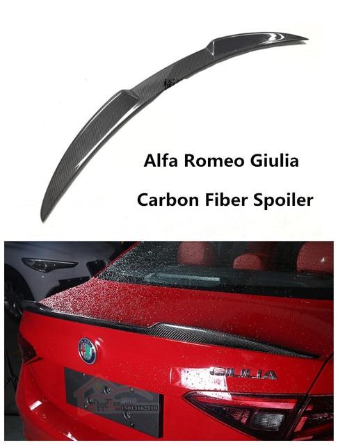 For Alfa Romeo Giulia 2016 2017 2018 Carbon Fiber Spoiler High
