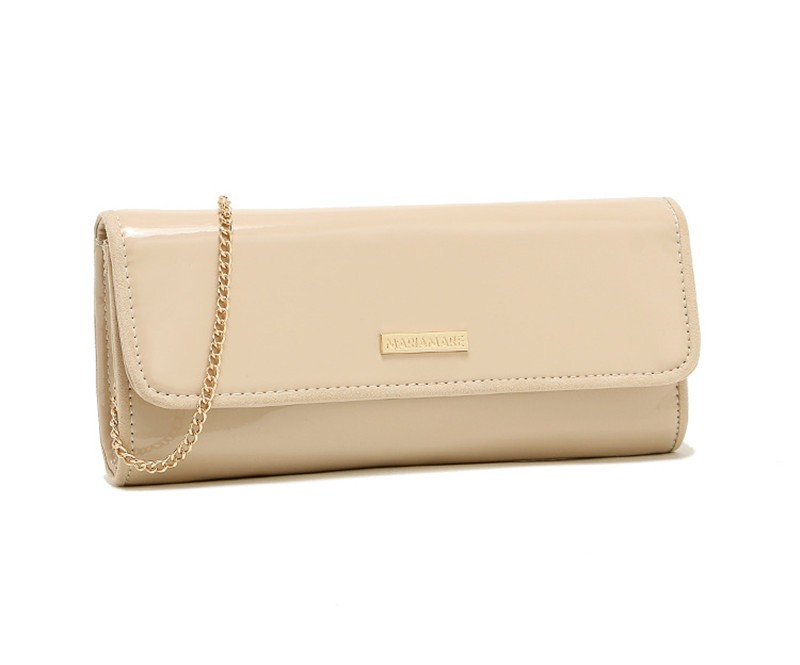 New Elegant Pure 3 Color Dinner Banquet Bag PU Leather High Quality Evening bag with chain HBF37 (2)