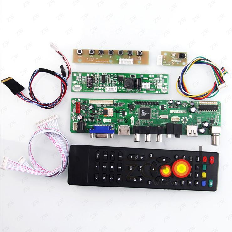 TV HDMI VGA USB CVBS RF LCD Controller Board For 18.5inch LTM185AT04 1366*768 vga hdmi lcd controller board for lp156whu tpb1 lp156whu tpa1 lp156whu tpbh lp156whu tpd1 15 6 inch edp 30 pins 1 lane 1366x768