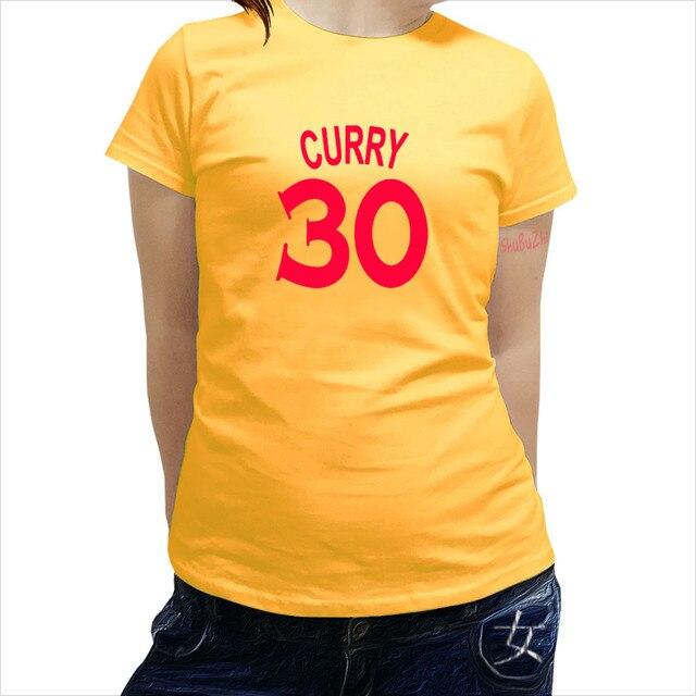 cotton tshirt women Curry NO 30 T shirt women 100% Cotton Short Sleeve  Basketballer Crew Neck Tops women Tees summer clothes efb7093ff