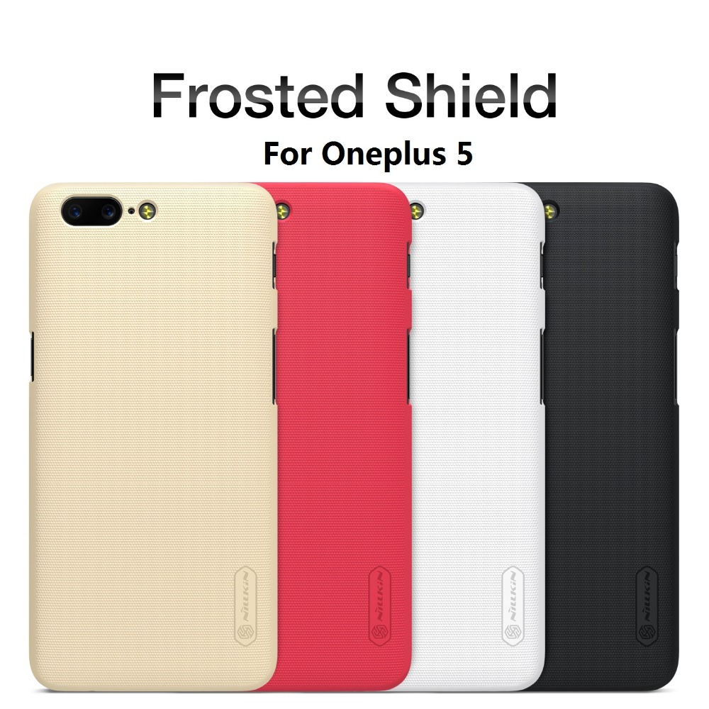Nillkin Frosted Shield Phone Cases For oneplus 5/a5000 Case Cover Back Hard PC Matte Carry Top Case for one plus 5 original case