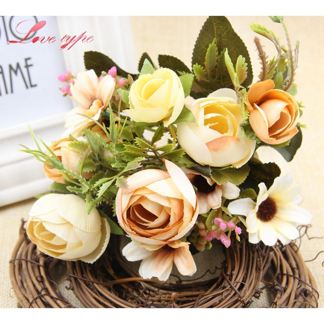 1 bunch high quality artificial flowers the american village style 1 bunch high quality artificial flowers the american village style retro silk flower wedding favors home mightylinksfo Gallery