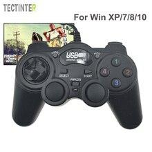 Com fio gamepad joystick usb2.0 choque joypad controlador de jogo para computador portátil win7/8/10/xp/vista