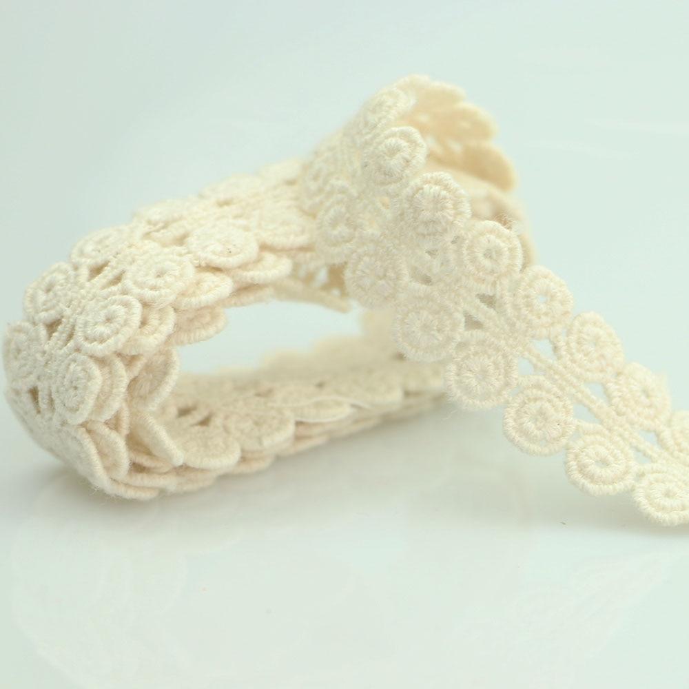 HTB1FWSsqwoQMeJjy0Foq6AShVXal 4YARD Apparel Sewing Fabric DIY Ivory Cream Black Trim Cotton Crocheted Lace Fabric Ribbon Handmade Accessories Craft 11021