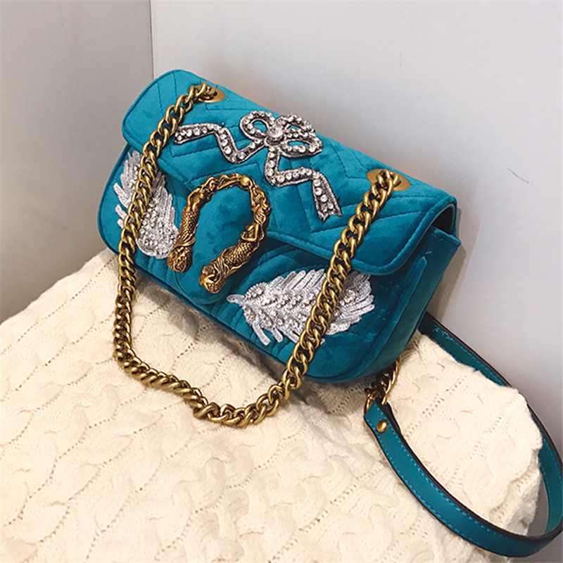 new Fashion Handbags High-end PU Embroidered Women Shoulder Messenger Bag Ladies Party Casual Bag Hot Black Business Lady Bag etersto2018 new casual fashion stitching hit color handbags new fashion handbags parker women s party wallets ms messenger bag