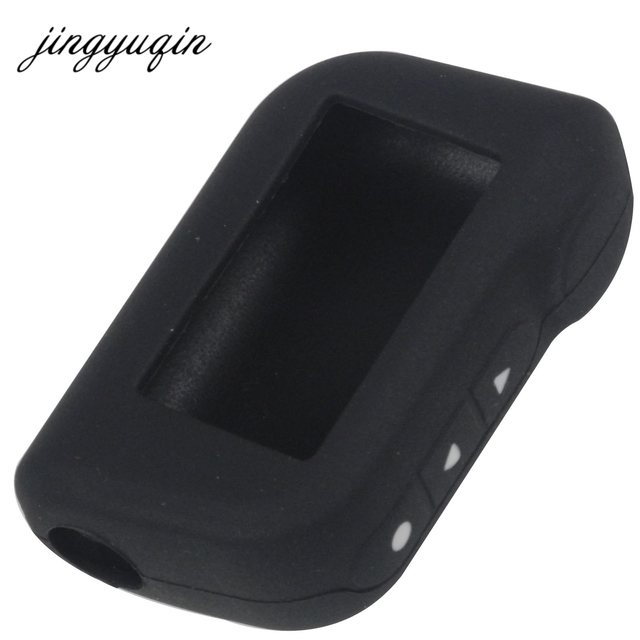 jingyuqin A93 A96 A63 Keychain Silicone Cover Key Case for Starline A93 Two Way Car Alarm Remote Controller LCD Transmitter