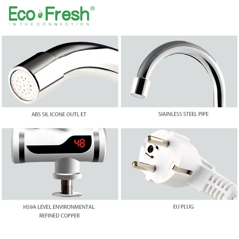 Ecofresh Electric Faucet Instant Water Heater Tap Faucet Heater Cold Heating Faucet Tankless Instantaneous Water Heater 3