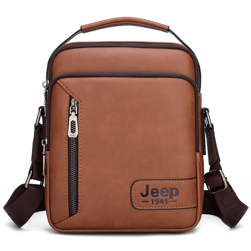 2019 New Promotion Luxury Brand Men's Messenger Bags Leather Shoulder Bag Vintage Mens Handbag Business Crossbody Bag For Men