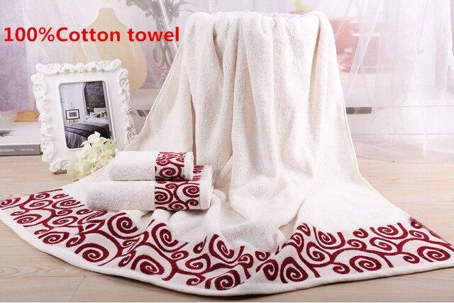 Towel Sets 3Pcs/lot Embroidered Cotton Bath Towels Toalha Bathroom Wholesale  Hand Cloth Facecloth Geometrical Brand Washcloth