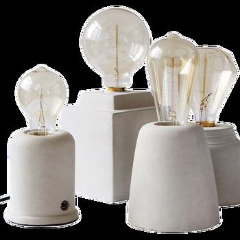Bedlampje Amerikaanse Retro Persoonlijkheid Creatieve Slaapkamer Tafellamp Koffie Winkel Cement Beton Studie Bureau Lampen LU813939