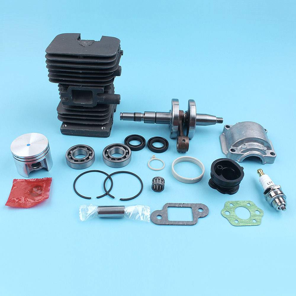 Cylinder Piston Crankshaft Engine Pan Kit For STIHL MS170 MS180 017 018 MS 180 170 Chainsaw 38mm Nikasil Plated Intake Manifold