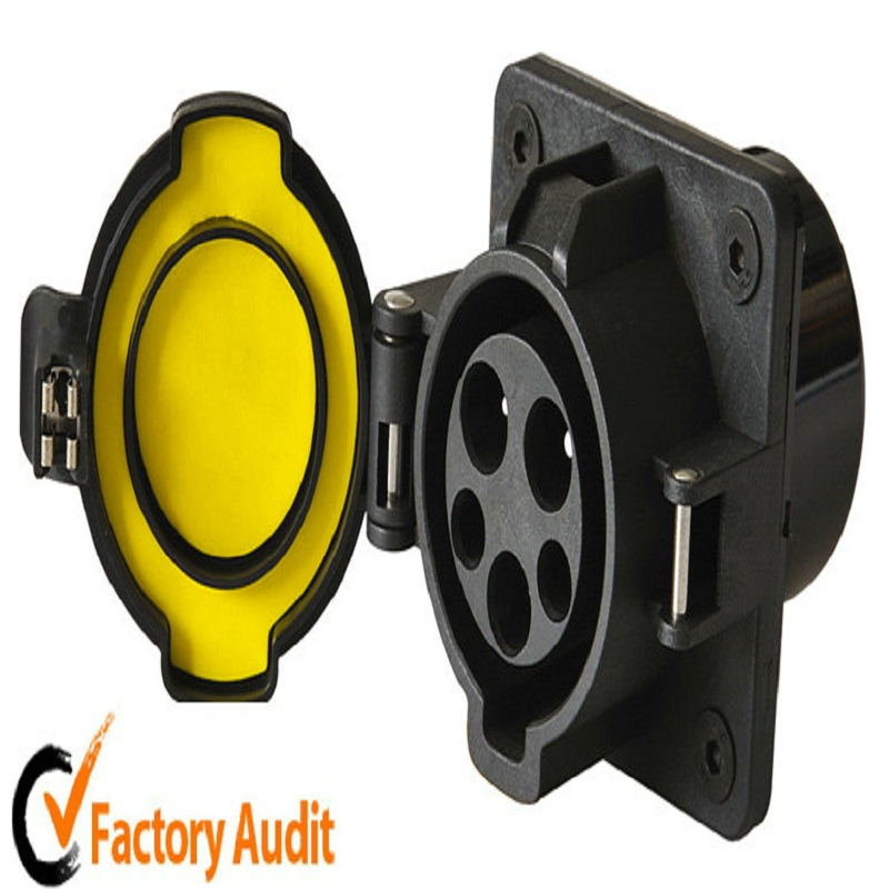 Original SAE J1772 AC Inlet Plugs Best Quality 16A 120V/240V AC Electric Plug without Cable for EV/Electric Car