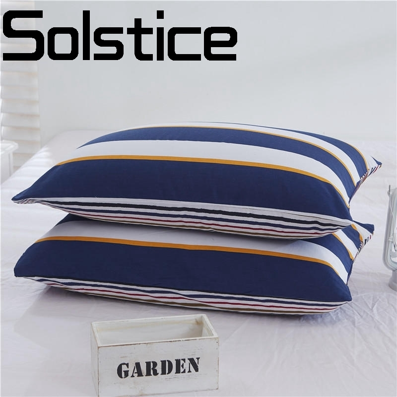 Solstice Home Textile Fashion simple skin-friendly printing and dyeing comfort breathable bed single product pillowcase
