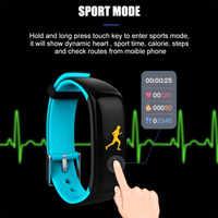 P1 Bluetooth Smart Polsband Fitness Tracker BT Slimme Horloge Slimme Armband Fitness Tracker Oled scherm Hartslagmeter Klok