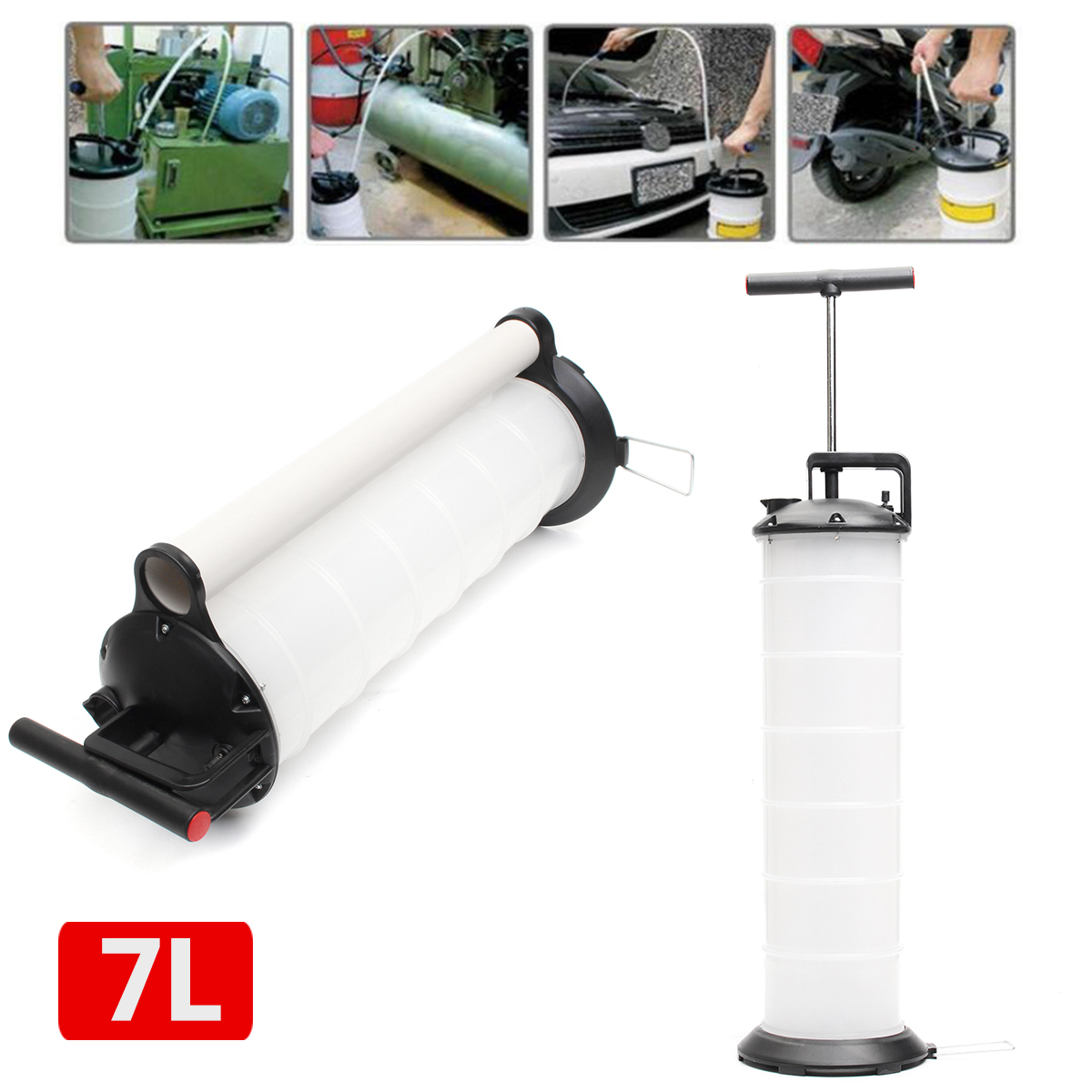 7L Manual Car Oil Vacuum Extractor Pump Petrol Water Suction ExtractionTransfer Fluid Fuel Transfer Oil Tank Pump for Car Boat 7l manual car oil vacuum extractor pump petrol water suction extractiontransfer fluid fuel transfer oil tank pump for car boat