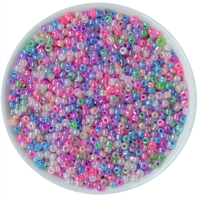 Hot Sale Free Shipping 1000pcs/bag Mixed Glass Opaque Seed Beads Jewelry Making Sold Per Packet oF 15 Gram