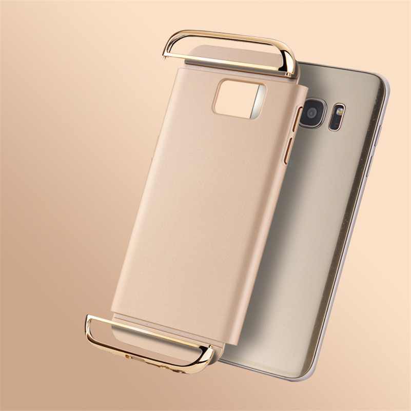 CONNICS Phone Case S7 S7 Edge for Women Men Electroplating Frame 3 in 1 Hard PC Back Cover For Samsung Galaxy S7  S7 Edge Cases (1)