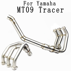 MT09 tracer Slip-On Motorcycle Exhaust Scooter Front Pipe Full System For yamaha FZ-09 MT-09 MT 09 2014 15 16 17 2018 year