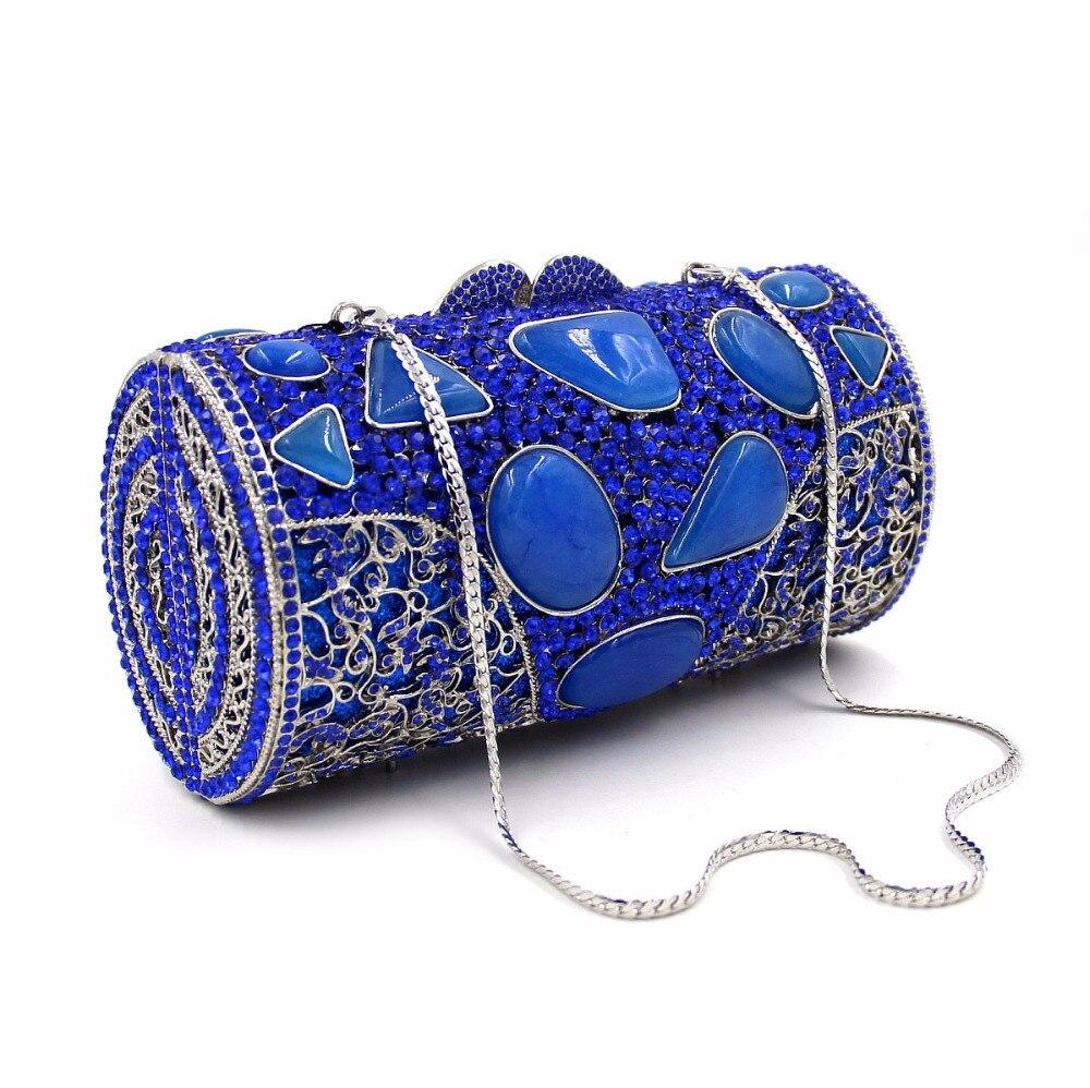 BL033 diamante bolsos de tarde de Lujo coloridas bolsas de embrague monedero muj