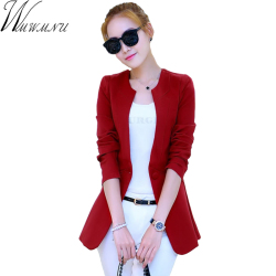 Wmwmnu 2017 new arrivals women blazers working wear autumn winter fashion button suit plus size long.jpg 250x250