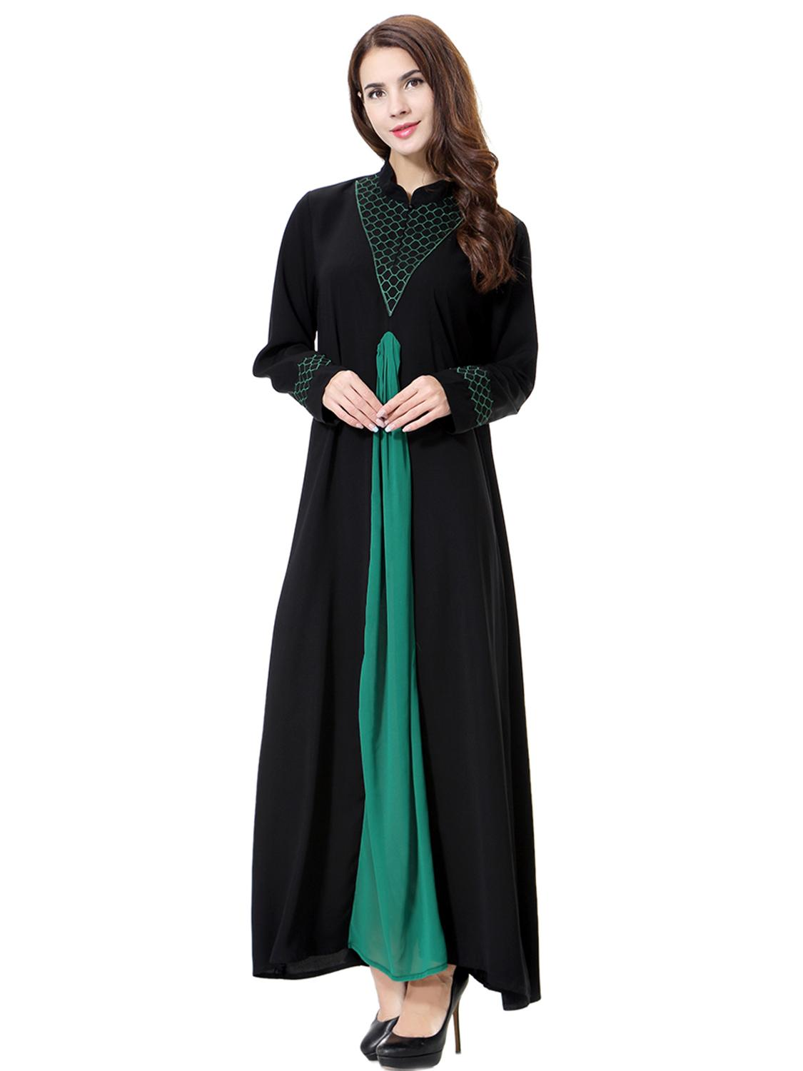 Muslim Dress Women Kaftan Abaya Ethnic Embroidery Cardigan Party Caftan in Islamic Clothing from Novelty Special Use