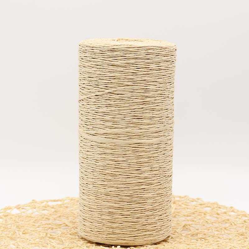 500 גרם\חבילה רפיה קש חוט בעבודת יד סריגה קיץ כובע שקיות סורג ל500g עבודות יד חומר
