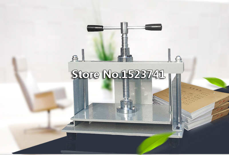 A4 size Manual flat paper press machine for photo books invoices checks booklets Nipping machine