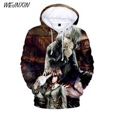 WEJNXIN Classic Anime Tokyo Ghoul 3D Hoodies Men Women Fashion Hoodie Tokyo Ghoul Harajuku Hip Hop Pullovers Sweatshirt