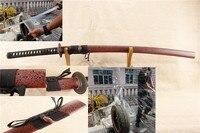 Sınırlı Zaman Teklif keskin el yapımı espada katana afiade samurai japon kılıç gerçek katana bahar 60 simm çelik demir tsuba bent