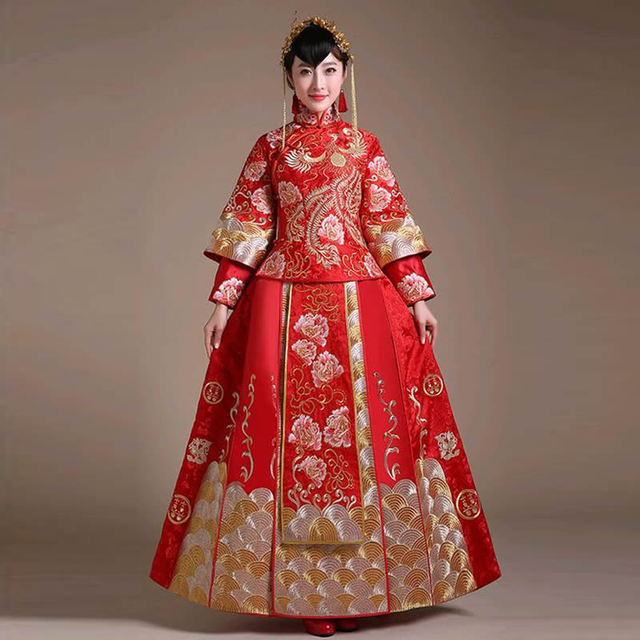 Chino tradicional Vestidos para las mujeres largo qipao cheongsam ...