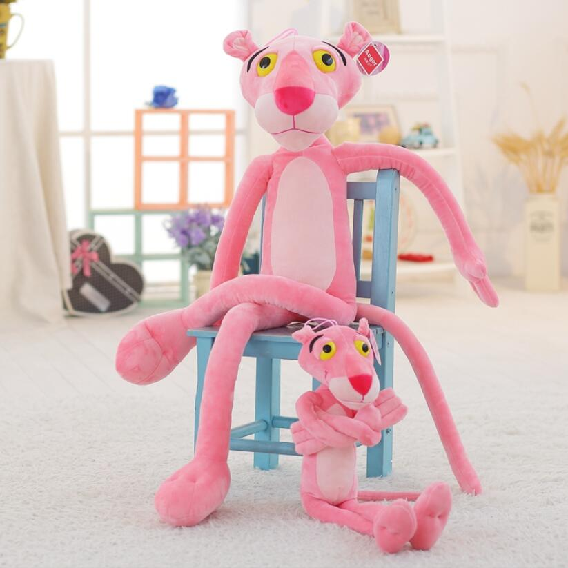 40-80CM Cute Pink Naughty Leopard Pink Panther Plush Stuffed Toys Baby Kids Doll Brinquedos Factory Price fancytrader new style giant plush stuffed kids toys lovely rubber duck 39 100cm yellow rubber duck free shipping ft90122