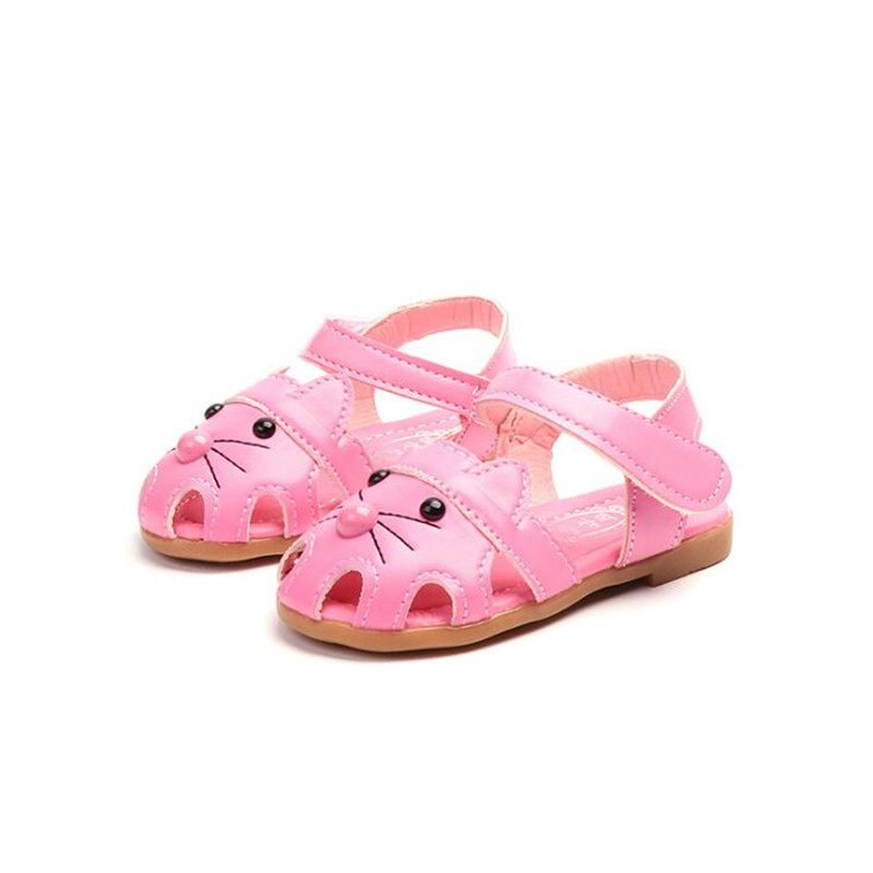 Summer Baby girls Casual First Walkers Toddler cute mouse pu toe shoes 3color 15-19 0-2years TX04