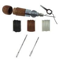 Пошив кожаных изделий шило Tool Kit DIY Craft кожаная Холщовая Сумка пояс ремонт швейная комплект WXV распродажа