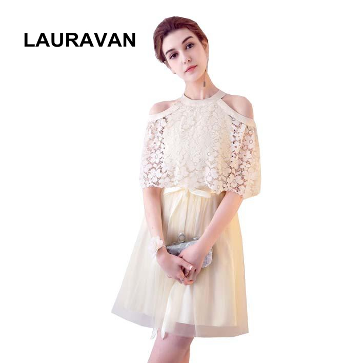 Champagne Elegant Clothing Girl Lace Beautiful Classic Dress Short Bridesmaid Dresses Ball Gown Under 50 For Wedding Party