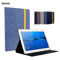 Silicon Cloth PU Leather Smart Tablet Case For Huawei MediaPad M3 Lite 10 BAH W09 BAH