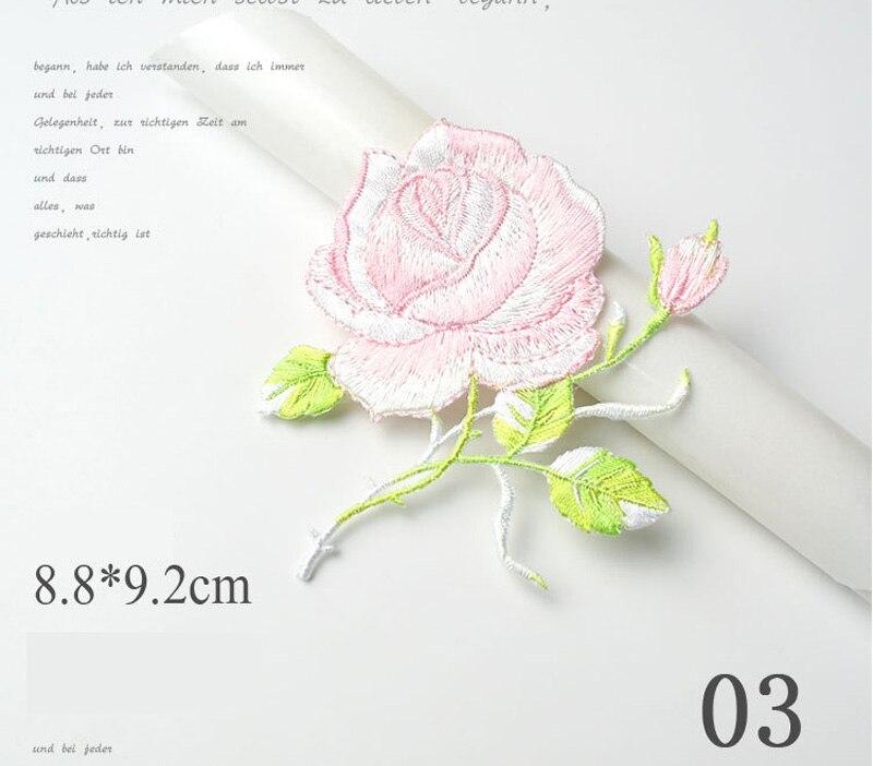 Flor del Melocotón Satén Joya 4.5 cm niños pegamento en ajuste de Parche Motivo Coser En Apliques