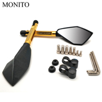 CNC Motorcycle Accessories Rearview Side Mirror Moto Blind Spot Mirror For Suzuki GSXR400 GT250 GT550 RG500 RGV250 VS800 VZ800