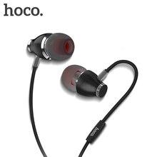 سماعات الأذن في الأذن من HOCO عالية الدقة سماعات معدنية ثقيلة للموسيقى وصوت الباس سماعة رأس عالية الجودة ماركة fone de ouvido للهاتف والكمبيوتر الشخصي