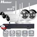 Holdoor 4CH Sistema de Seguridad Inalámbrica WiFi 500 GB 720 P Cámara de Red IP Inalámbrica de Alambre Cámara Impermeable IP66 IR Led para el Hogar