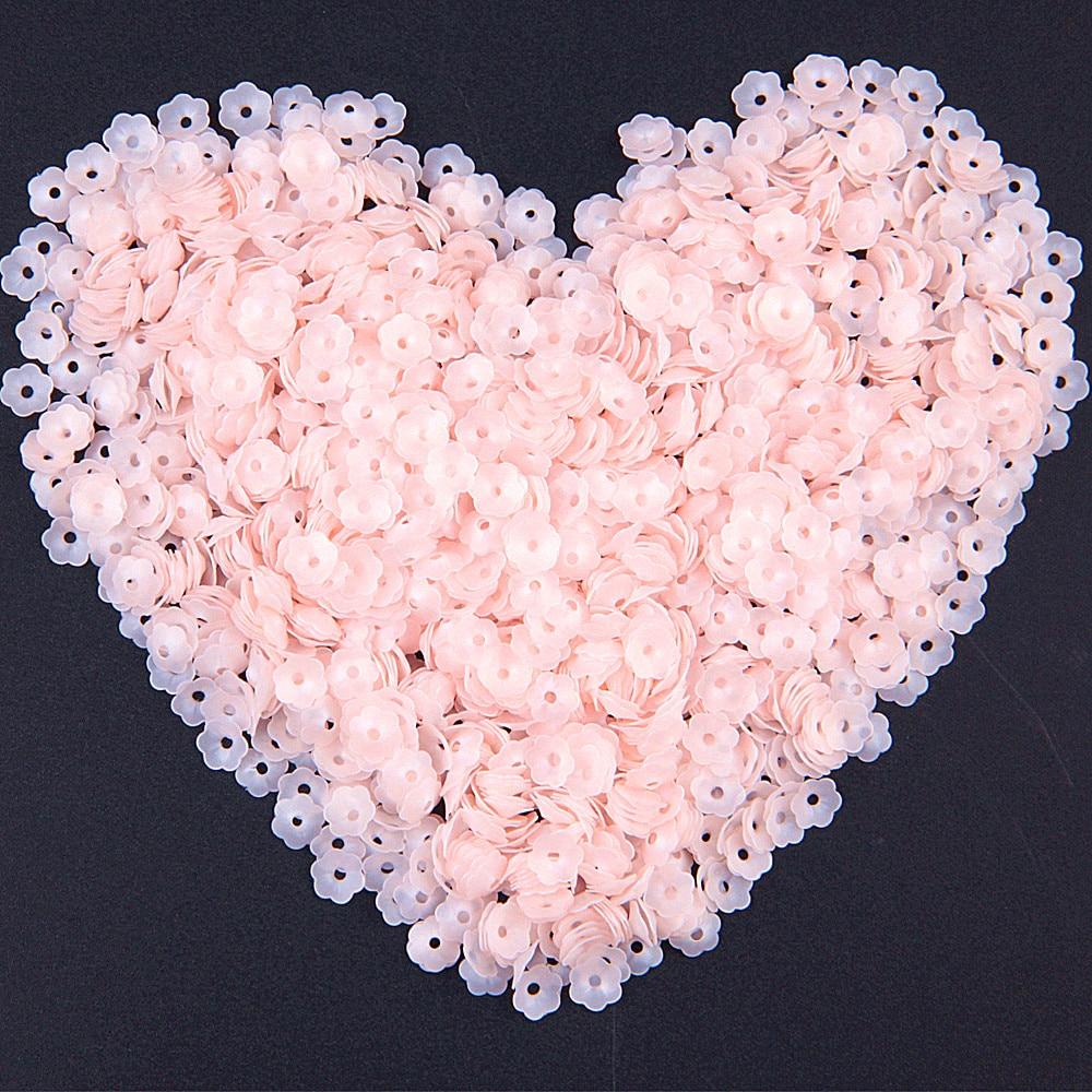Матовые розовые цветы с блестками, 6 мм чашки, ПВХ блестки, свободные ленты для рукоделия, швейные принадлежности, украшения для костюма, 20 г/лот Блестки      АлиЭкспресс